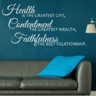 Health is the Greatest Gift~ Wall sticker / decals